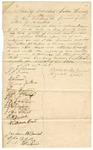 1845 September 24: Citizens of Saline County to Governor of Arkansas, Petition for removal of an Indian