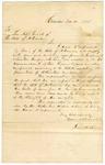1845 November 24: James H. Sims, Camden, to Albert Pike, Adjutant General, Requesting arms for militia