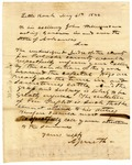 1846 May 4: A. Smith, Little Rock, to Acting Governor Williamson, Concerning the condition of the Capitol Ground