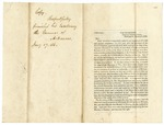 1846 January 8: R. Jones, War Department, to the Governor of Arkansas, Requesting report on militia