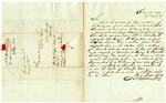 1846 August 27: A.H. McKisick, Benton, Arkansas, Governor Thomas S. Drew, Concerning William Thompson, state representative from Benton County