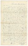 1847 October 20: C.J. Hand, Indianapolis, Indiana, to E.N. Conway, Auditor, Requesting information concerning entry of public lands