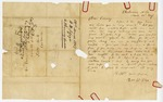 1847 March 22: William W. Floyd, Clarksville, Arkansas, to Elias N. Conway, Auditor, Asking for salary for first quarter of 1847