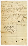 1847 October 19: J.C. Hale, Hot Springs, to E.N. Conway, Auditor, Concerning land sold by mistake