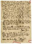 1847 March 20: Isaac June, Castalia, Ohio, to Auditor of Arkansas, Military bounty land claims