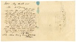 1848 May 30: A.E. Olin, Essex, Michigan, to E.N. Conway, Auditor, For information of land donations