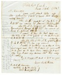 1848 June 22: James C.M. Hicks, Hicks Creek, to E.N. Conway, Auditor, Lands sold for taxes