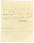1848 May 10: A.R. Hockersmith, Benton, Arkansas, to E.N. Conway, Auditor, County tax information