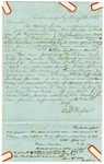 1848 May 26: Richard Russell, Richmond, Kentucky, to E.N. Conway, Auditor, For information about land donations