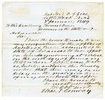 1849 January 3: Elias N. Conway, Auditor, to Governor Thomas S. Drew, Resignation as Auditor