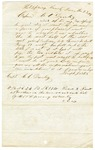1849 June 23: Joseph Jester, Hot Spring County, to C.C. Danley, Auditor, For information about land donations