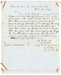 1849 October 24: A. Wood, Adjutant General of Arkansas, Yellville, Arkansas, to Captain W.C. Mitchell, Military Orders during Marion County War [Tutt-Everett War]