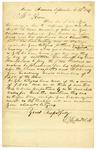 1849 September 12: S.T. Gilbert, Marion, Arkansas, to Governor J.S. Roane, Concerning reward for Marion Wright, fugitive