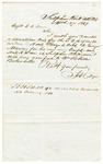 1849 March 27: H.C. Dye, Sulphur Rock, Arkansas, to C.C. Danley, Auditor, Land donation deed for George Mann