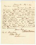 1849 February 3: Solon Borland, Washington City, to John Knight, Little Rock, Concerning land warrant certificates
