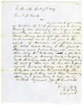 1849 October 7: A.F. Son, Yellville, to General A. Wood, Concerning Hose and James King, witness in murder case