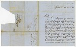 1850 March: A. Thayer, Syracuse, New York, to the Auditor, For information about land donations
