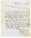 1851 May 10: William Monaghan, New Orleans, to Governor John S. Roane, Requesting appointment as Commissioner of Deeds for Arkansas in Louisiana