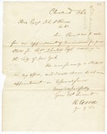 Undated [1851]: Governor R. Wood, Cleveland, Ohio, to Governor John S. Roane, Recommending Robert Johnstone as Commissioner of Deeds for Arkansas in New York