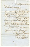 1852 February 26: George C. Thomas, Washington, District of Columbia, to Governor of Arkansas, Application for appointment as Commissioner of Deeds for Arkansas in District of Columbia