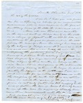 1852 January 5: M.W. Izard to Governor Roane, Request for a pardon for Moore, an inmate in state prison