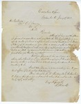 1853 January 17: Governor R. Wood, Columbus, Ohio, to Governor E.N. Conway, Concerning physician who wished to locate in Arkansas