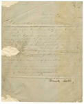 1853 June 13: Governor Howell Cobb, Milledgeville, Georgia, to Governor of Arkansas, Inquiry about tax laws of Arkansas