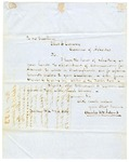 1853 February 24: Charles B.F. Adams, Boston, to Governor Elias N. Conway, Requesting appointment as Commissioner of Deeds for Arkansas in Massachusetts and [page 2] 1853 February: Charles G. Greene, Boston, to Governor Elias N. Conway, Recommending Charles B.F. Adams as Commissioner of Deeds for Arkansas in Massachusetts