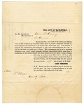 1853 April 23: James Thorington to Governor Elias N. Conway, Requesting appointment as Commissioner of Deeds for Arkansas in Iowa