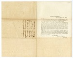 1854 September 4: J.G. Bennett, Editor of New York Herald, to Governor Elias N. Conway, Request for crop statistics from Arkansas