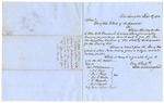 1854 September 19: John S. Hollingshead, Washington, District of Columbia, to Governor of Arkansas, Requesting appointment as Commissioner of Deeds for Arkansas in District of Columbia