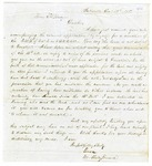 1855 December 13: M. Shelby Kennard, Batesville, to A.S. Huey, Auditor, For information of lands subject to donation