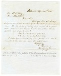 1855 September 24: M. Shelby Kennard, Batesville, to A.S. Huey, Auditor, Military bounty land claims