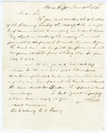 1855 December 10: A. Rust, House of Representatives, to Governor E.N. Conway, Inquiry about Arkansas treasury bonds