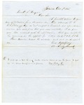 1855 December 3: M. Shelby Kennard, Batesville, to A.S. Huey, Auditor, For information of lands subject to donation