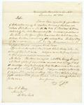 1855 December 14: Benjamin P. Jett, Washington, Arkansas, to A.S. Huey, Auditor, Land entered for donation