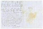 1855 November 26: L.M. Stephens, Lockbee, Arkansas, to A.S. Huey, Auditor, Land redeemed for taxes