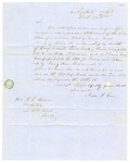 1855 October 19: Jesse J. Coe, Elizabeth, Arkansas, to A.S. Huie [sic], Auditor, About lands forfeited for nonpayment of taxes