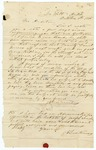 1855 October 8: J.G. Quertermous, DeWitt, Arkansas, to A.S. Huey, Auditor, For information of lands subject to donation