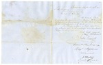 1855 September 12: Joshua Vansant, et al., Baltimore, to Governor Elias N. Conway, Recommendation of Malcom W. Mearis as Commissioner of Deeds for Arkansas in Maryland