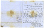 1856 October 6: E.H. Brian, Clarendon, Arkansas, to Governor E.N. Conway, Report of the murder of W.M.G. Reedy