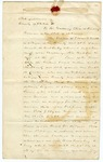 1856 January 16: Edward F. Krickel, Pulaski County, to Governor Elias N. Conway, Petition for release of forfeited bond