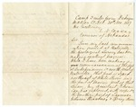 1857 November 30: D.D. Owen, State Geologist, to Governor E.N. Conway, Geological Survey report from the field, Marion County