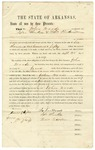 1857 September 28: John Woods, Jesse Hinkle, and Thomas Richardson, Izard County, to William R. Miller, Auditor, Security bond for Woods as Sheriff and Collector of Izard County