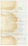 1858 February 24: Lewis Cass, Secretary of State, United States, to Governor of Arkansas, Concerning request of Lord Napier for information of railways