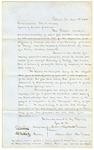 1858 April 8: James S. Carpenter, et al., Pottsville, Pennsylvania, Scientific Association, to Governor Elias N. Conway, Request for geological report