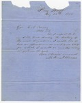 1858 May 25: John S. Roane, Pine Bluff, to Governor E.N. Conway, Request for appointment to the Governor's staff