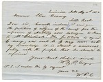 1859 May 31: Wiley P. Cryer and citizens of Lafayette County, to Governor Elias Conway, Petition to pardon a negro slave, Anthony, owned by James R. McClintock