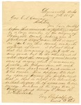 1859 June 7: Lewis B. Fort, Lewisville, Arkansas, to Governor E.N. Conway, Request for pardon for a Negro slave, owned by James R. McClintock