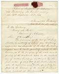 1861 September 30: Thomas C. Peek, Little Rock, to Governor Henry M. Rector, Quarterly report of Inspector of Arkansas Penitentiary
